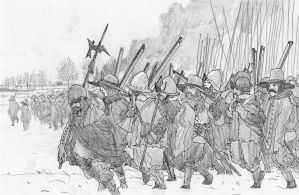 In the cold, cold Netherlands, February 1624 by FritzVicari