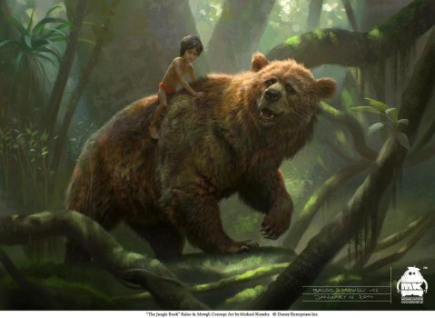 The Jungle Book: Baloo and Mowgli concept by michaelkutsche