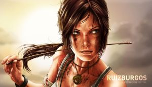 LARA CROFT DETAIL by RUIZBURGOS