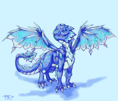 Ice Dragon by Jesseth