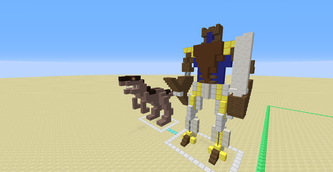 Dinobot (A Minecraft 1.12.X Creation) by Omega-the-24th-Wixon