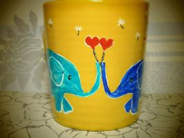 Elephant Love - Mug for sale by InkyDreamz