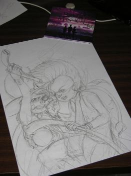Little Dark Cloud Red Puma front cover pencilling by JSWilmet