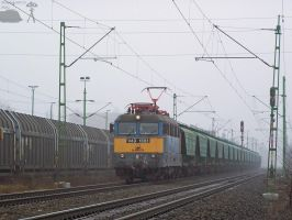 V43 1351 in Gyor with freight by morpheus880223