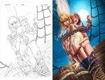 Tied up, before and after by jembury