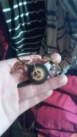 Steampunk necklace by gholemcz