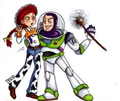 Buzz and Jessie: Desert Flower by Fred-Weasley