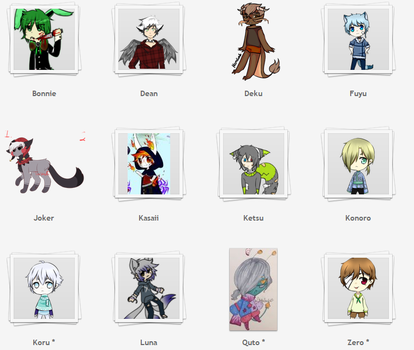 Selling Ocs qvq (OPEN)(MORE OCS ADDED I LUV Q-Q ) by KamiSai