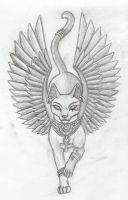 Bastet v1 tattoo by Tharanthiel