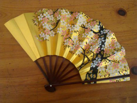 Stock: Cherry Blossom Fan by FantasyFailure-Stock