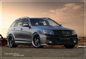 Mercedes-Benz C63 AMG Estate by Battle-Cry-TR