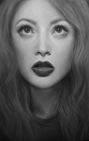 Black and white portrait by NaomiFuller