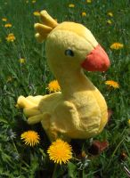 Spring and Chocobo by FollyLolly