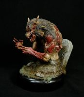 Zombie Wolf Painted 3 by chrisgabrish