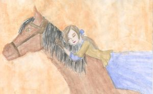 girl and her horse by superfreak333