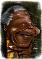 Nelson Mandela by dilmarjunior