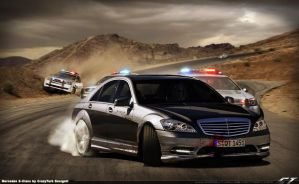 Mercedes S-Class pursuit by CrazyTurk