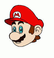 Mario's wink by Dino-drawer