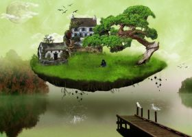 Floating Island by daveytatts