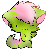 Pink and Green Cat Adopt (1 Point) (CLOSED) by Firestar999