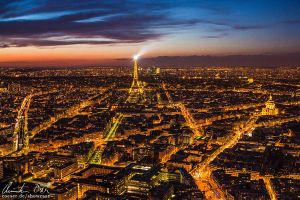 Paris Cityscape by Nightline