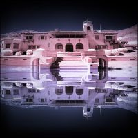 Scottys Castle Death Valley National Park infrared by MichiLauke