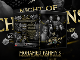 WWE Night of champions 2013 blu-ray cover by Mohamed-Fahmy