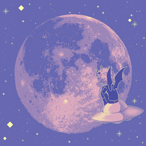 peach moon by escafandrista