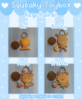 Cute Keychains by SqueakyToybox