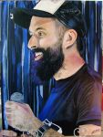 Scroobius Pip Acrylic Painting by Giant-Lenin