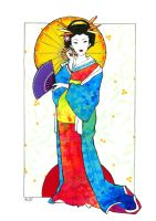Rainbow Geisha by A2-Yuki