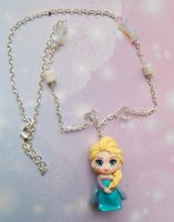 Handmade necklace with Frozen's Elsa clay charm by SimonaZ