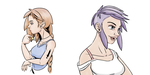 Bust Characters Color by stinawo
