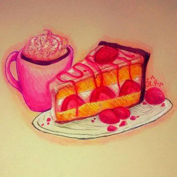 Cheescake and Hot Cocoa by Xx-CupcakeMash-xX