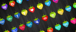 Strawberry Social Media Icons by annanta
