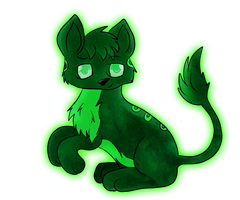 Green Creature :3 by CKittyKat98