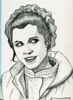Princess Leia Pen Sketch by Fellhauer