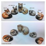 Pebble Foxes Size Compare by Reptangle