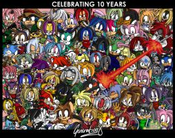Celebrating 10 Years by geN8hedgehog
