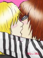 Matt and mello kiss by feleva