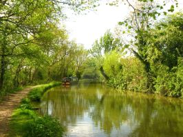 Oxfordshire Canal by Vansittart