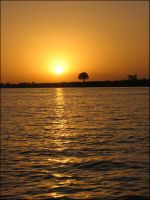 Sunrise over the Niger by Minam