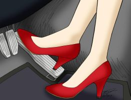 Pedal Pumping, Sailor Mars by ArthurT2015