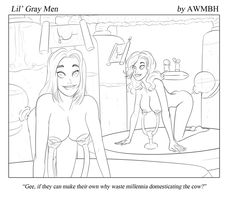 Little Gray Men - Lactose Intolerance - Cropped by AWMBH