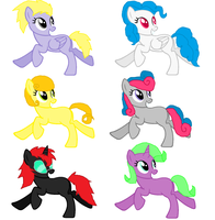 Mlp Fim Adopts 2 by pinkraindrops03