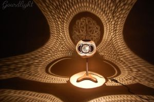 Handcrafted gourd lamp -Table lamp VII- Gourdlight by gourdlight