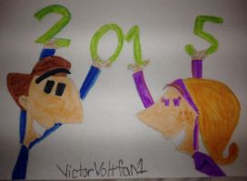 HAPPY 2015 from Victor and Anita by VictorVoltfan1