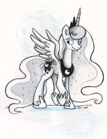 Sketch - Princess Luna by sophiecabra