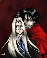 Integra and Alucard by shinga