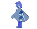 Sapphire birthstone AU redesign AGAIN by Blinky-Duck